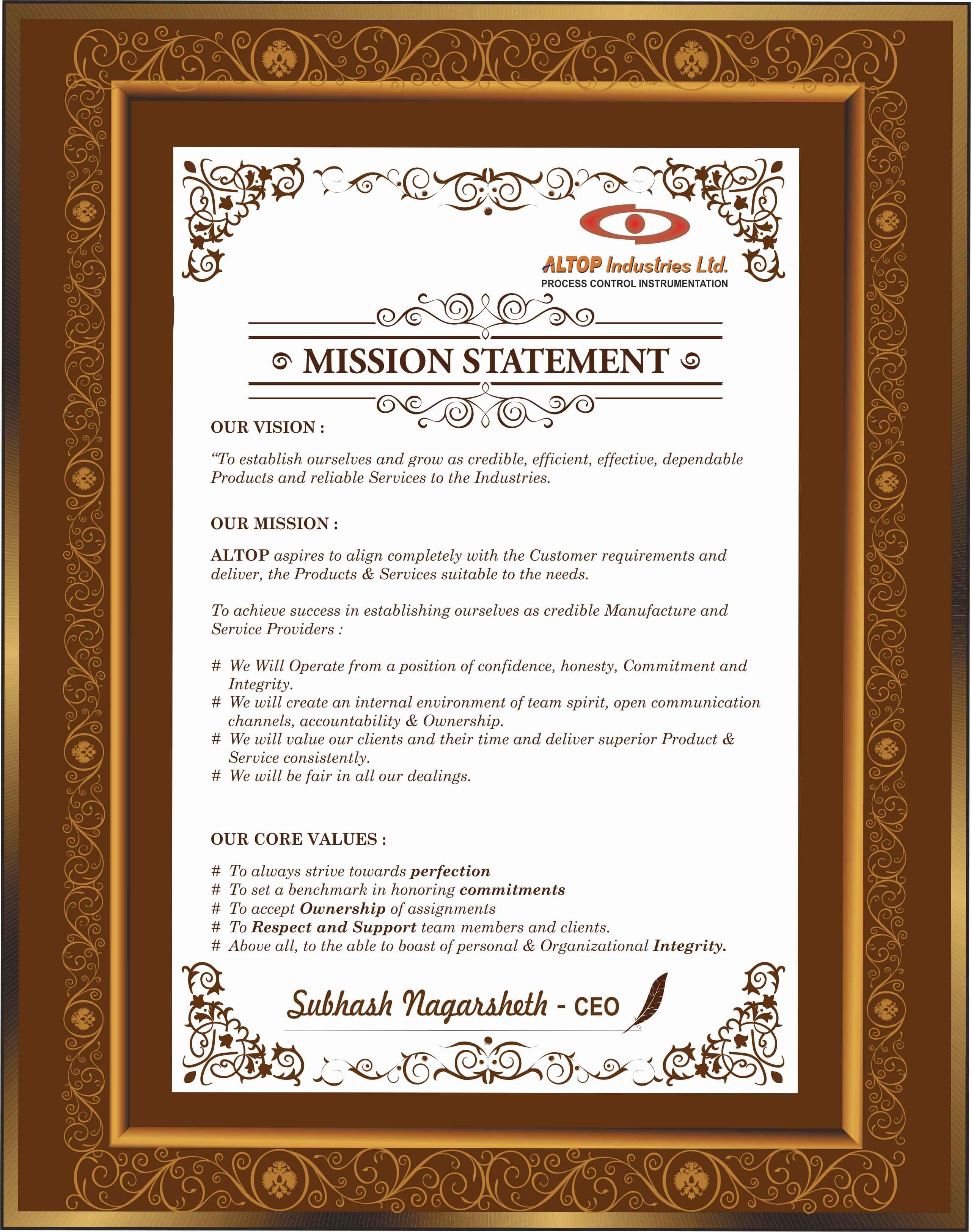 altop industries mission